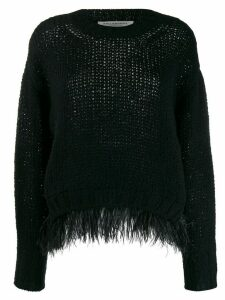 Philosophy Di Lorenzo Serafini embellished loose-fit jumper - Black