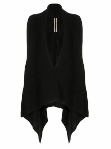 Rick Owens draped-side knitted cardigan - Black