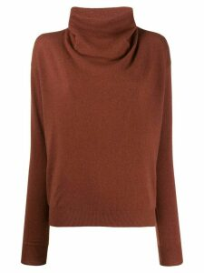 Agnona slim-fit cashmere jumper - Red