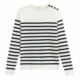Organic Cotton Jumper with Breton Stripes