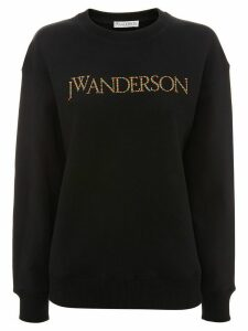 JW Anderson embroidered logo sweatshirt - Black