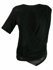 Unravel Project draped T-shirt - Black