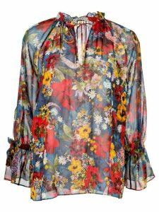 Alice+Olivia floral print blouse - Blue
