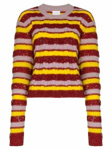 Ashish stripe knit jumper - Multicolour