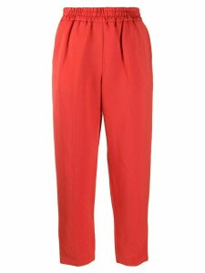 Frenken cropped tapered trousers