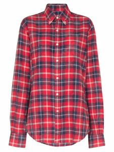 Faith Connexion check print shirt - Red