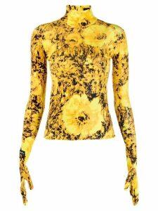 Richard Quinn floral print sweater - Yellow
