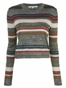 Veronica Beard striped knitted top - Grey
