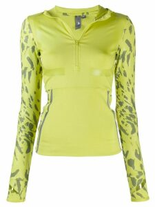 adidas X Stella McCartney printed sleeve jumper - Green