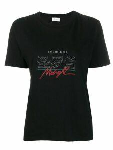 Saint Laurent Call Me After Midnight T-shirt - Black