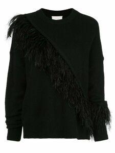 Cinq A Sept Merritt fringed detail sweater - Black