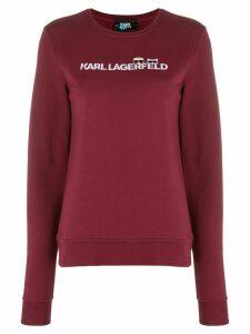 Karl Lagerfeld Ikonik logo sweatshirt - Red