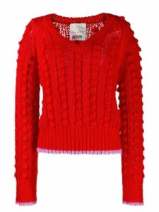 Marco De Vincenzo contrasting trim chunky jumper - Red