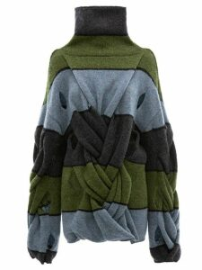 JW Anderson oversized twist front jumper - Blue
