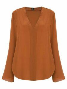 Osklen V-neck silk blouse - Brown