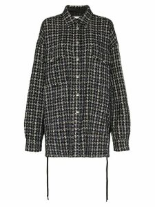 Faith Connexion tweed oversized shirt - Black