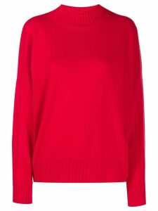 Allude long sleeve knitted jumper - Red