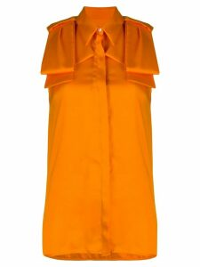 Victoria Victoria Beckham sleeveless longline blouse - ORANGE
