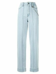 Pony Stone chain link straight-leg jeans - Blue