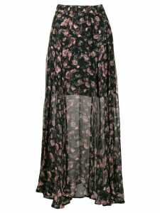 IRO Diamond printed maxi skirt - Black