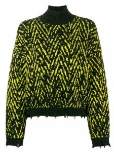 Versace Chevron knit jumper - Black