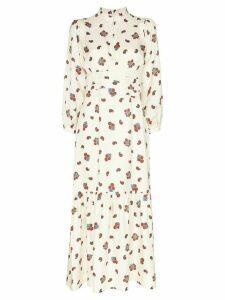 Rebecca De Ravenel floral maxi dress - White
