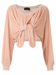 Andrea Bogosian textured Pierre blouse - PINK