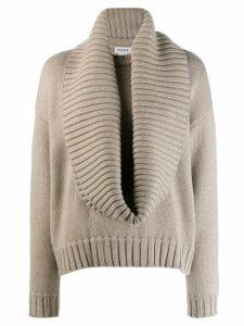Monse plunge-neck knit sweater - Grey