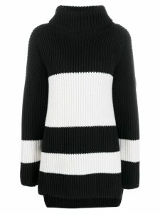 Joseph stripe ribbed knit jumper - Black
