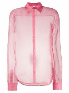 Helmut Lang sheer long sleeve shirt - PINK