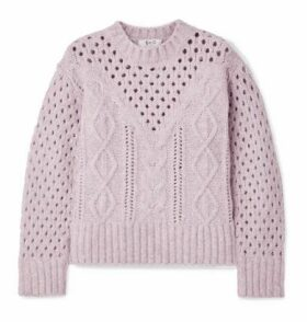 SEA - Cora Cable-knit Sweater - Lavender