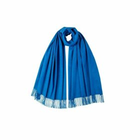 Johnstons Of Elgin Zaffre Blue Classic Cashmere Stole