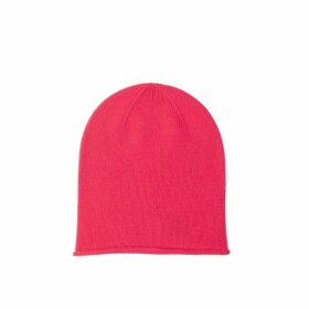 Johnstons Of Elgin Hot Pink Roll Trim Cashmere Hat