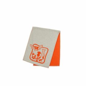 Johnstons Of Elgin Bee Logo Orange & Grey Stole