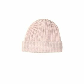 Johnstons Of Elgin Chunky Luxe Blush Cashmere Hat