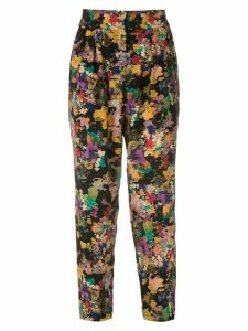 Andrea Marques printed tapered trousers - Multicolour