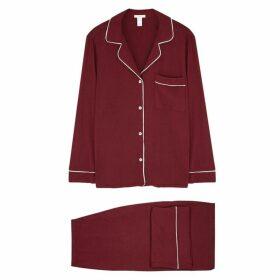Eberjey Gisele Bordeaux Jersey Pyjama Set