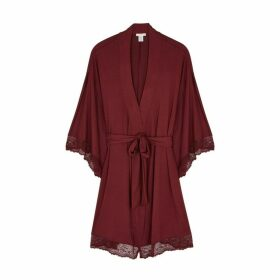 Eberjey Colette Lace-trimmed Jersey Robe