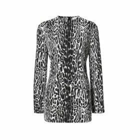 Burberry Long-sleeve Leopard Print Stretch Jersey Top