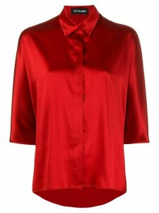 Styland concealed button shirt - Red