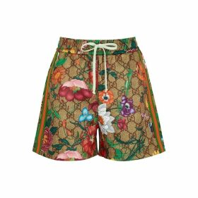 Gucci GG Flora Printed Jersey Shorts