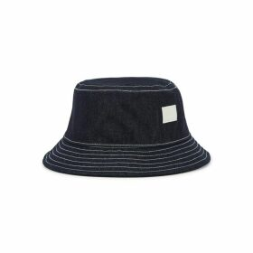 Acne Studios Dark Blue Denim Bucket Hat