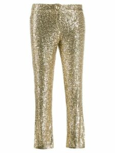 Balmain sequin-embellished trousers - GOLD