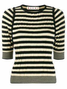 Marni striped rib-knit top - Black