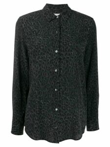 Equipment animal print long sleeve shirt - Black