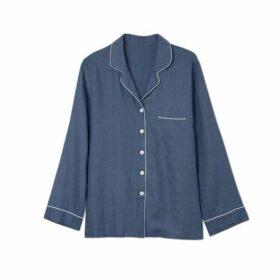 Piglet Blueberry Linen Pyjama Shirt