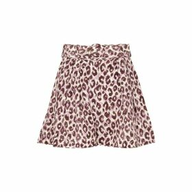 Zimmermann Super Eight Safari Leopard-print Silk Shorts