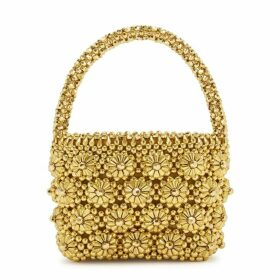 Shrimps Shelly Gold Beaded Top Handle Bag