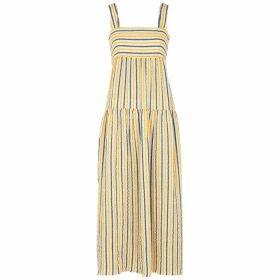 Three Graces Cosette Striped Seersucker Maxi Dress