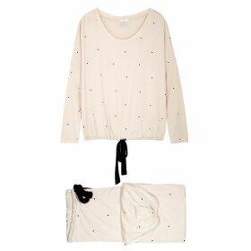 Eberjey Dots Blush Jersey Pyjama Set